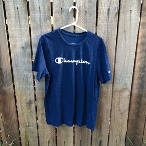 Champion Spell-out Men's Blue Shirt